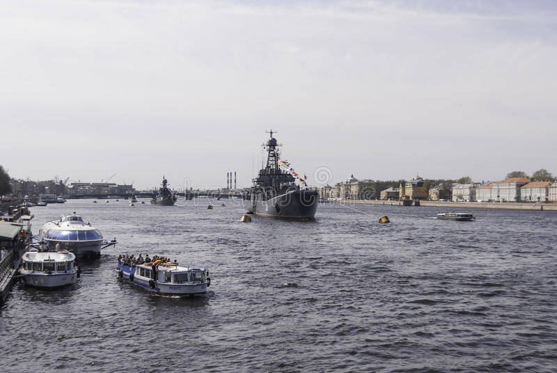 Warships royalty free stock photo
