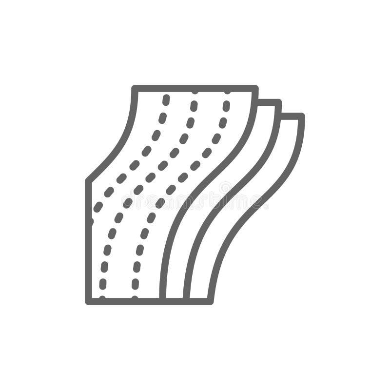 Warstwa papier toaletowy, pieluchy kreskowa ikona pojedynczy białe tło royalty ilustracja