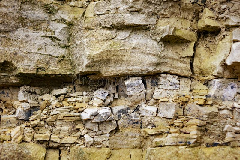Warstwy osadowa piaskowiec skała obrazy royalty free