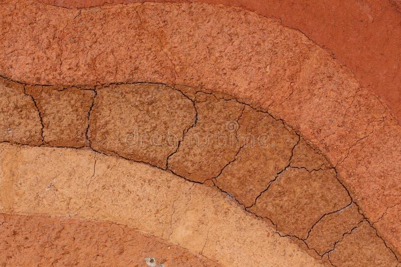 Warstwy ziemi ziemia naturalny zdjęcia stock