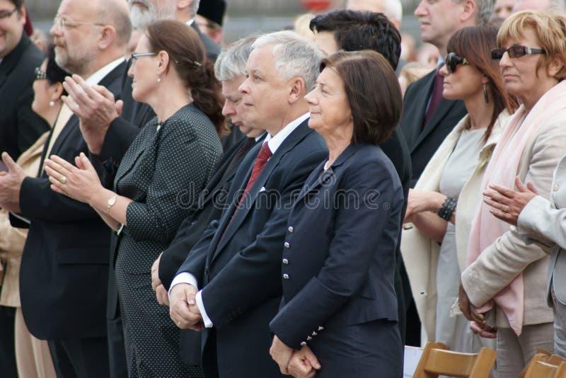 Warszaw, Poland - June 06: President of Poland Lec stock image