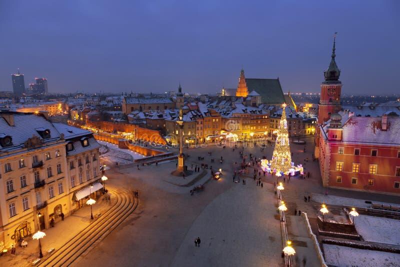 Warszawa, kasztelu kwadrat zdjęcia royalty free