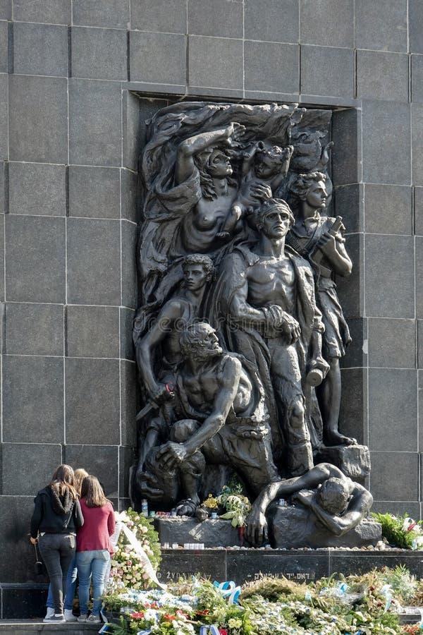 WARSZAWA POLAND/EUROPE - SEPTEMBER 17: Västra sidomonument till royaltyfri fotografi