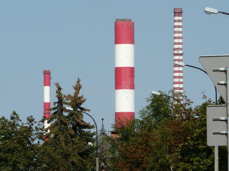 WARSZAWA, Siekierki elektrownia - zdjęcie stock