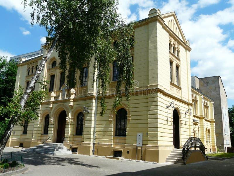 Warszawa, stara synagoga fotografia royalty free