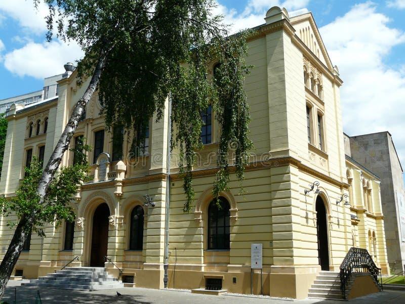 Warszawa, stara synagoga zdjęcie stock