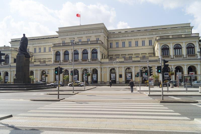 Warszawabyggnadsavdelning av kassan fotografering för bildbyråer