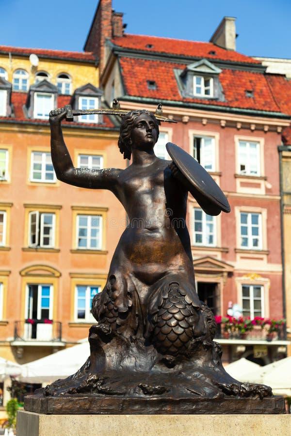 Warszawasjöjungfru royaltyfri fotografi