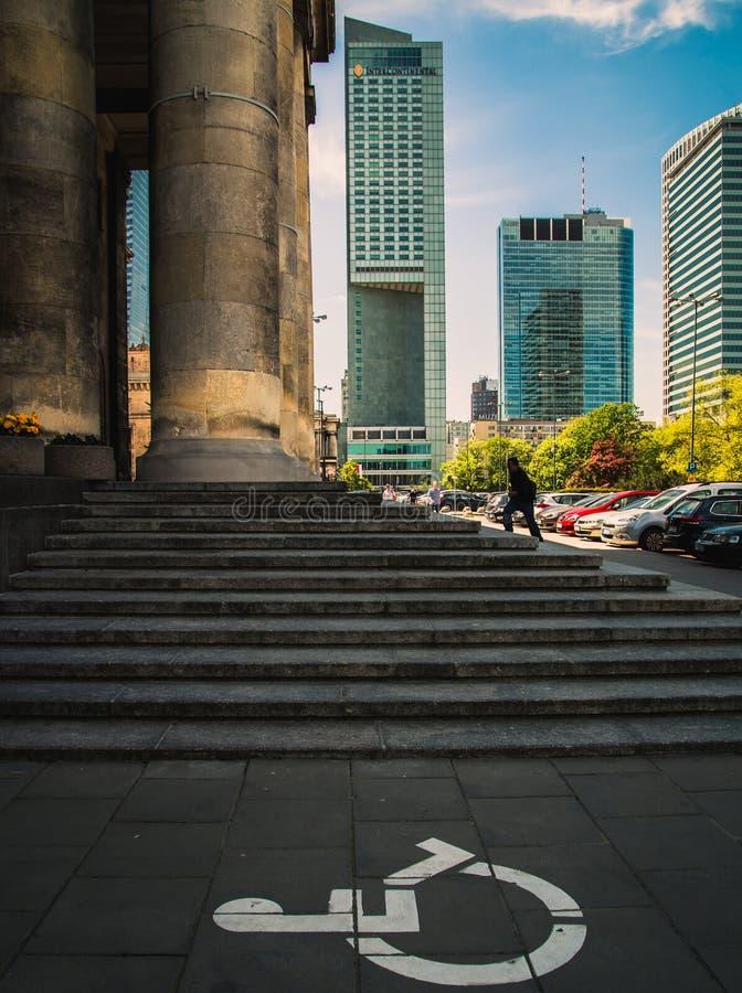Warszawaskyskrapor arkivbild