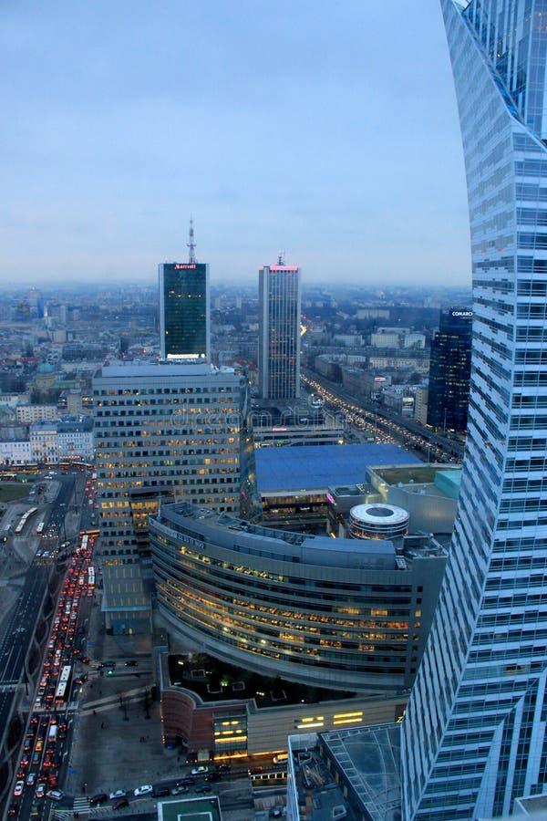 Warszawastad, Polen arkivfoto