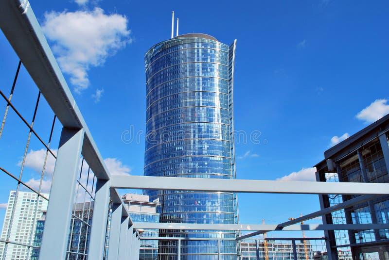 Warszawski iglica budynek biurowy obrazy royalty free