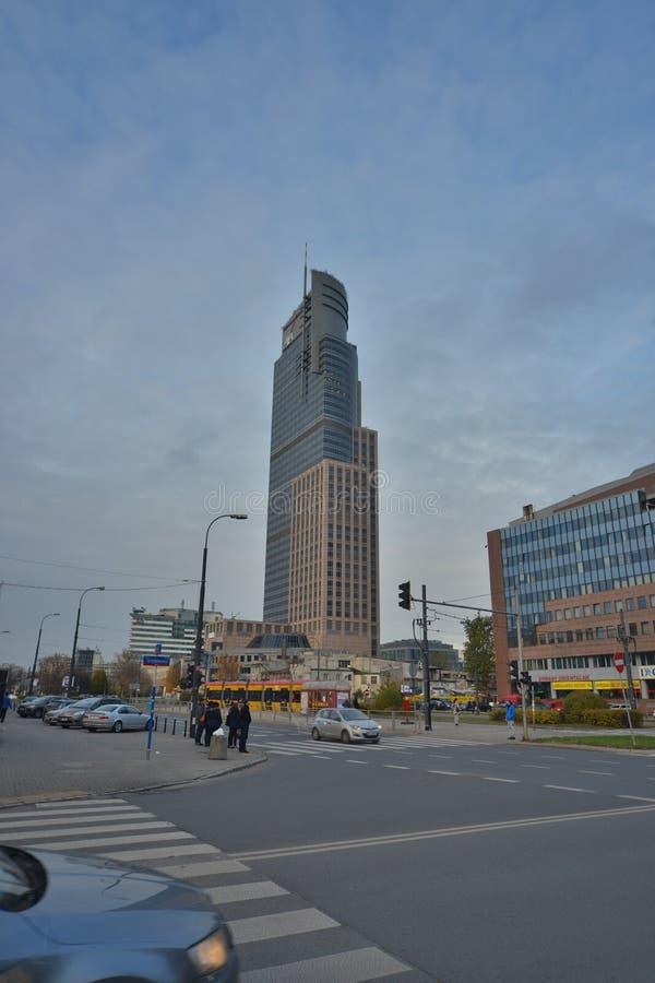 Warszawski iglica budynku widok obrazy royalty free