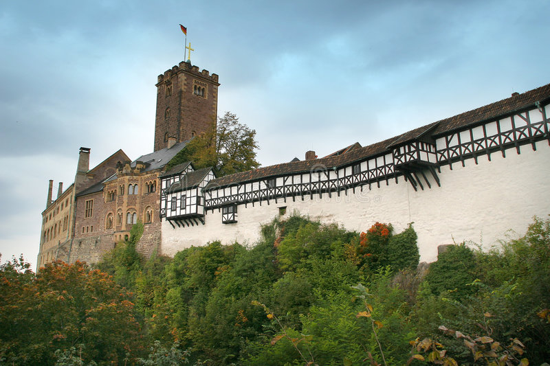 The Wartburg, Germany. The Wartburg in Eisenach, Germany stock photo