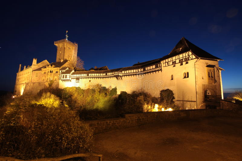 Wartburg-Kasteel Duitsland stock foto's