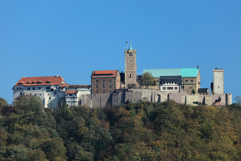 Wartburg-Kasteel in Duitsland stock foto