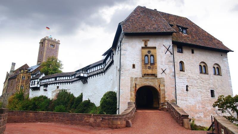 Wartburg slott i Eisenach, Tyskland royaltyfria foton
