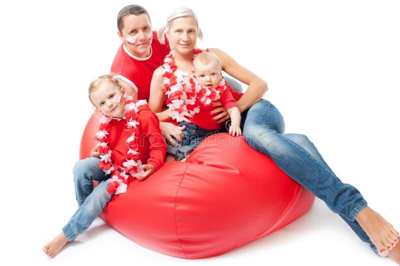 Wartefußbalabgleichung der polnischen Familie von Eurocup lizenzfreie stockbilder