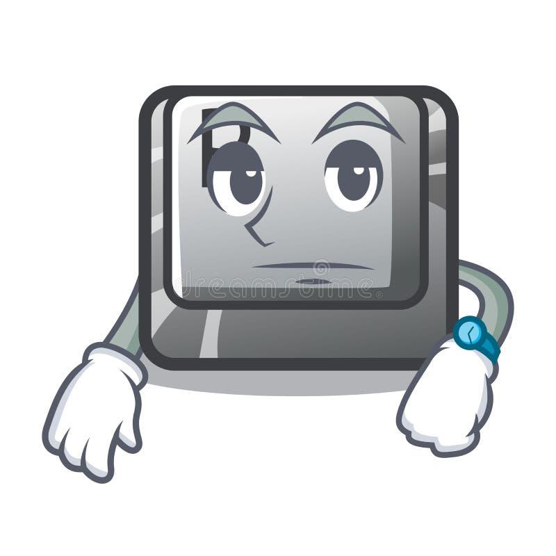 Warteknopf P auf einer Spielkarikatur vektor abbildung
