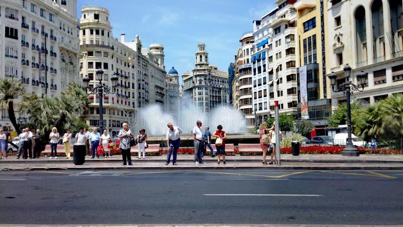 Wartenächster schritt von Valencia stockbild