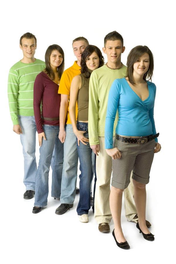 Warteschlange der Jugendlichen lizenzfreies stockbild