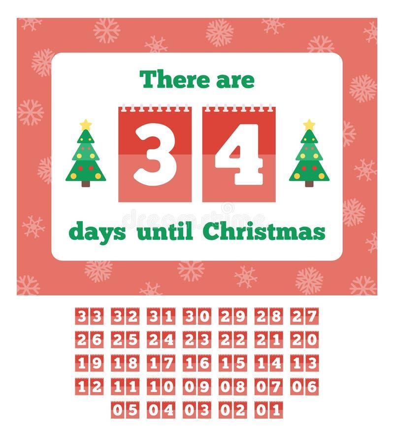 Warteweihnachtskalender lizenzfreie abbildung
