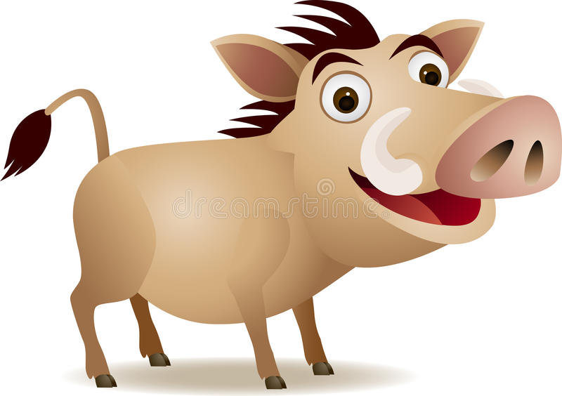 Download Warthog stock vector. Illustration of africa, fauna, forest - 14409988