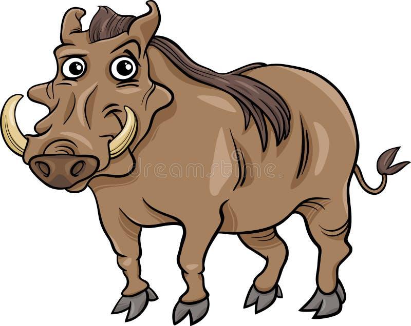 Warthog animal cartoon illustration stock illustration