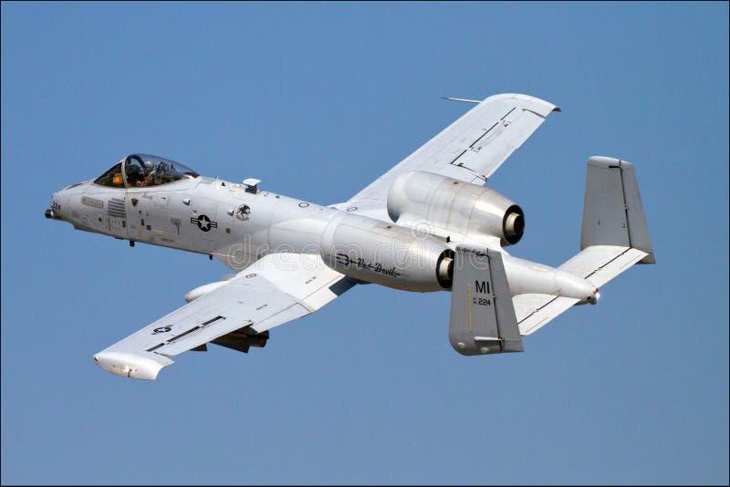A-10 A10 Warthog D?etowy samolot zdjęcie royalty free