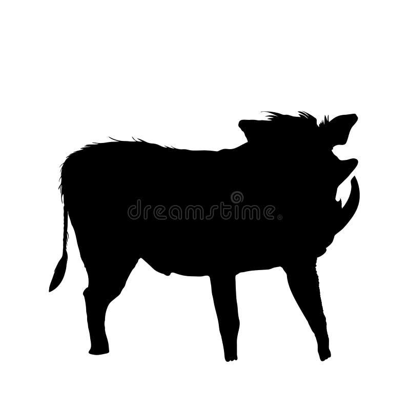Warthog - Silhouette vector illustration