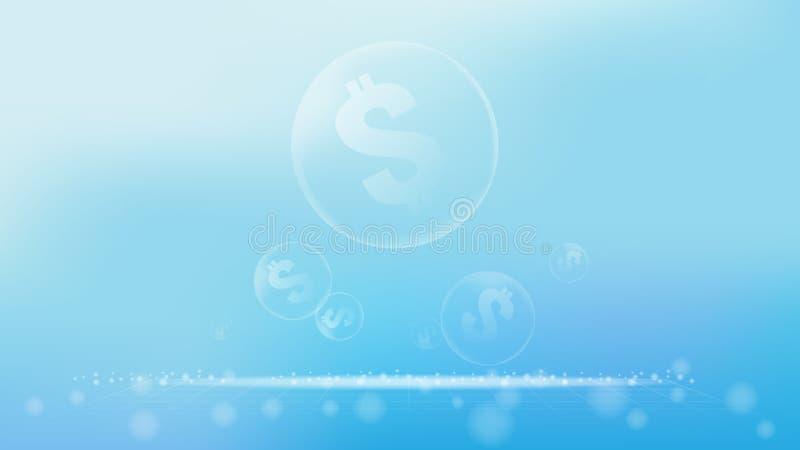 Wartość bąbla biznesowy wizerunek dla biznesowego abstrakcjonistycznego tła lub ilustracji