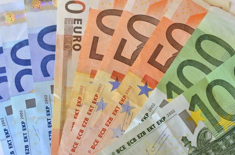 Wartość euro fotografia stock