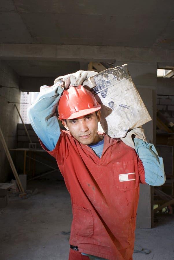 wartość materiału budowlanego pionowe pracownika fotografia royalty free