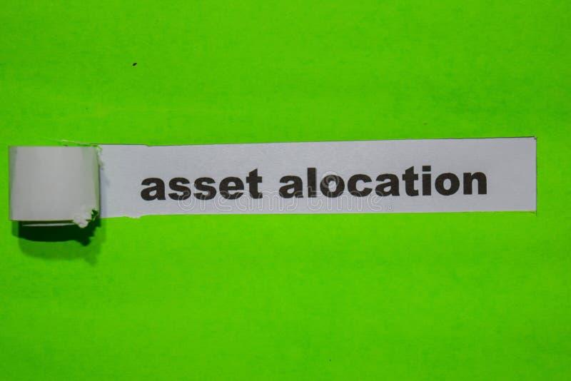 Wartości Alocation, inspiracji i biznesu pojęcie na zieleń drzejącym papierze, zdjęcie royalty free