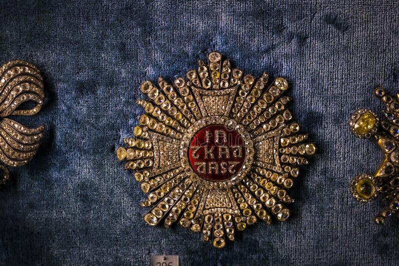 Wartości i artefakta skarbiec Bawarscy królewiątka w siedzibie Bawarski królestwo w Monachium fotografia stock