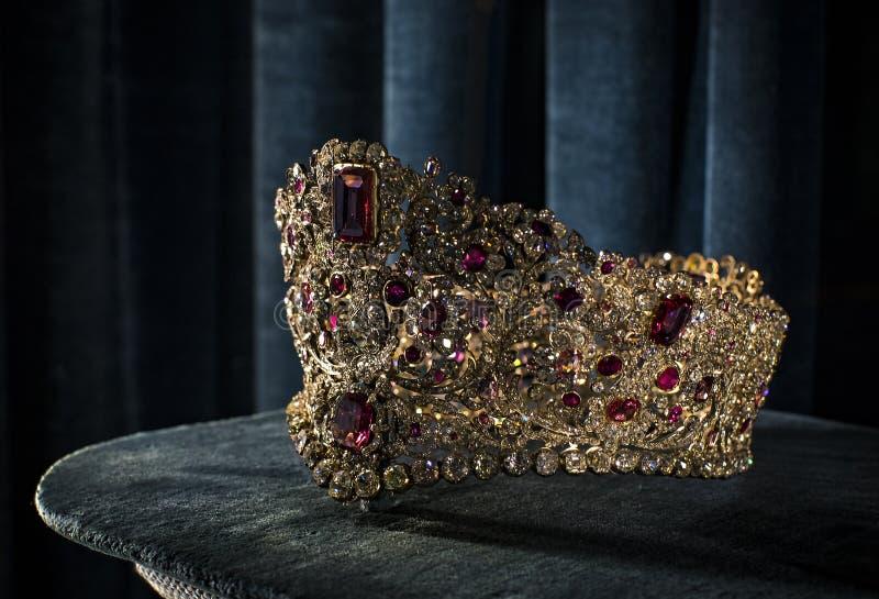 Wartości i artefakta skarbiec Bawarscy królewiątka w siedzibie Bawarski królestwo w Monachium zdjęcia royalty free