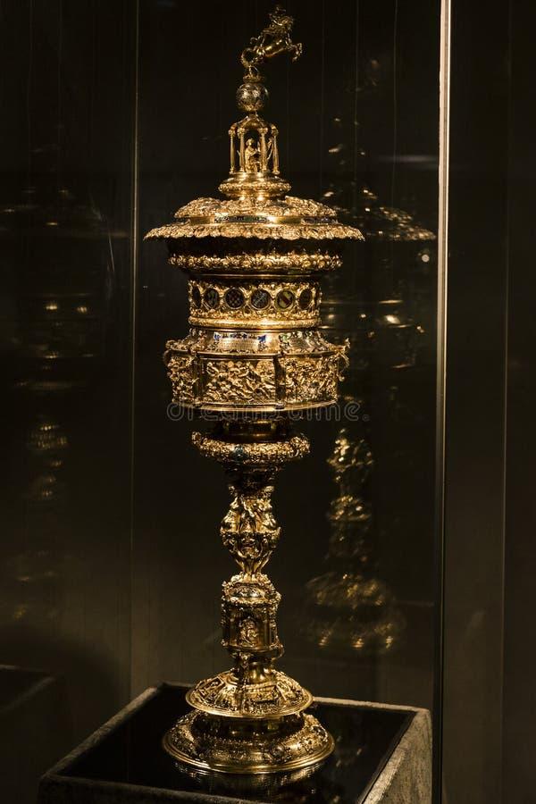 Wartości i artefakty Skarb królów bawarskich w rezydencji królestwa bawarskiego w Monachium obraz royalty free