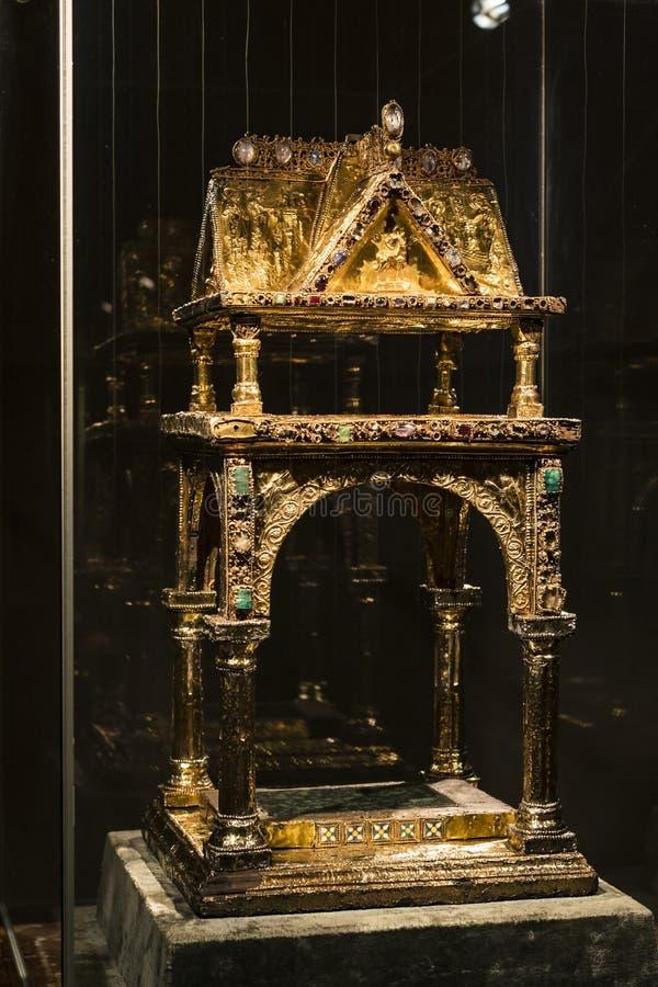 Wartości i artefakty Skarb królów bawarskich w rezydencji królestwa bawarskiego w Monachium zdjęcia stock