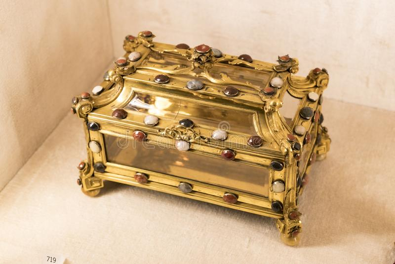 Wartości i artefakty Skarb królów bawarskich w rezydencji królestwa bawarskiego w Monachium zdjęcie stock