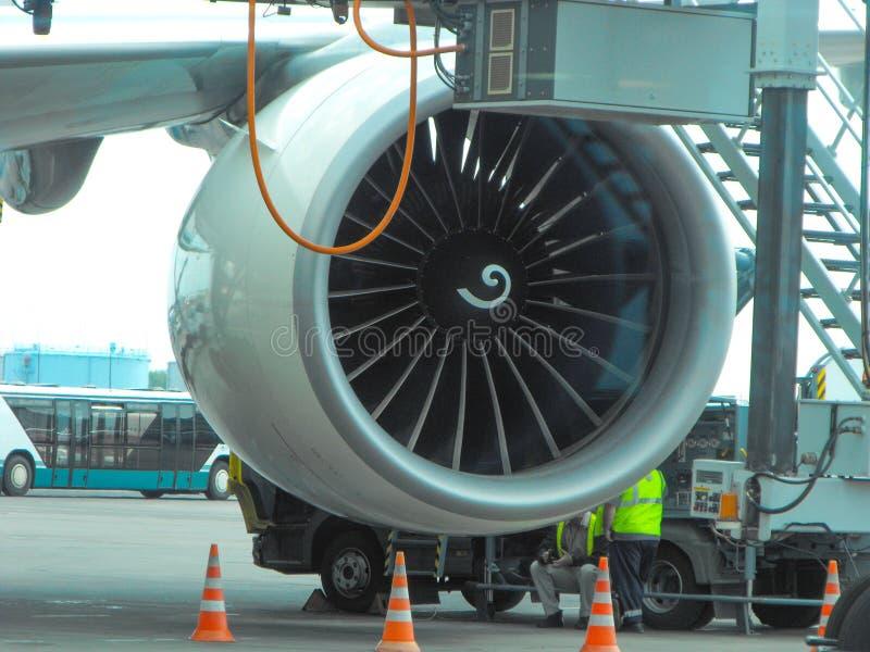 Wartung der Flugzeugturbine lizenzfreie stockfotografie