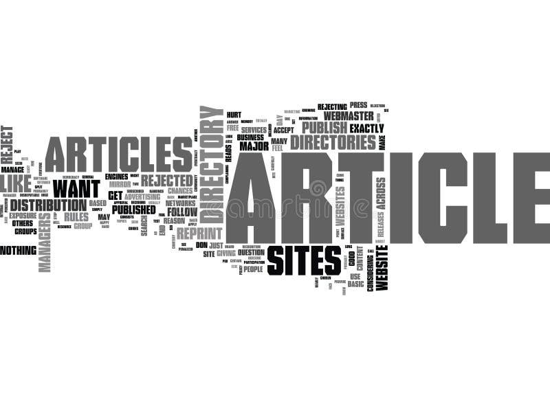 Warum Didn T Sie meinen Artikel andere Major Article Sites Did Word-Wolke veröffentlichen stock abbildung