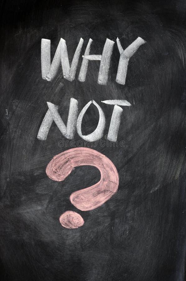 WARUM NICHT mit einem großen Fragezeichen lizenzfreies stockfoto