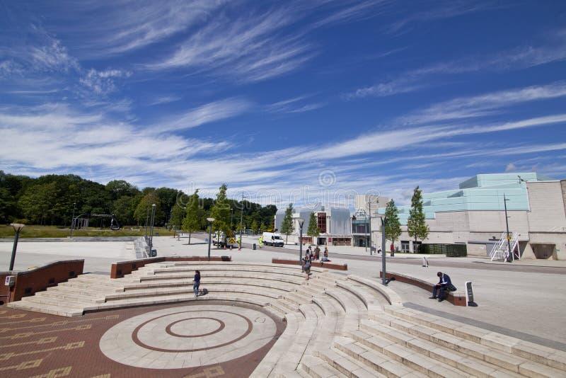 Warwick Arts Centre en Vierkant voor het studentenvereniging Gebouw royalty-vrije stock foto's