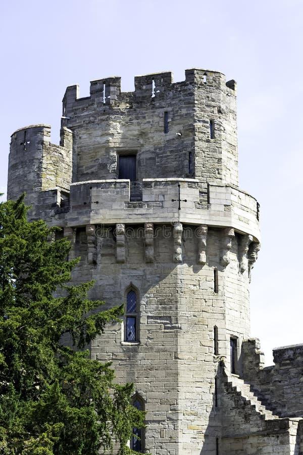 Warwick Castle - πύργος Caesar ` s στοκ εικόνες