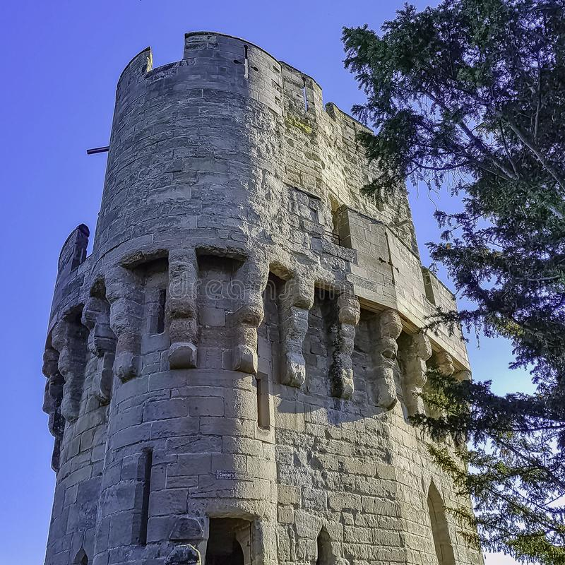 Warwick Castle - Caesar`s Tower in Warwick in Warwick, Warwickshire, UK. Warwick Castle - Caesar`s Tower in Warwick in Warwick, Warwickshire, United Kingdom royalty free stock images