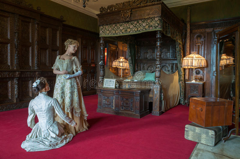 Warwick castle, Countess of Warwick's bedroom stock image