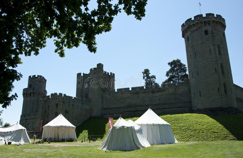 Warwick Castle, England royalty free stock photos