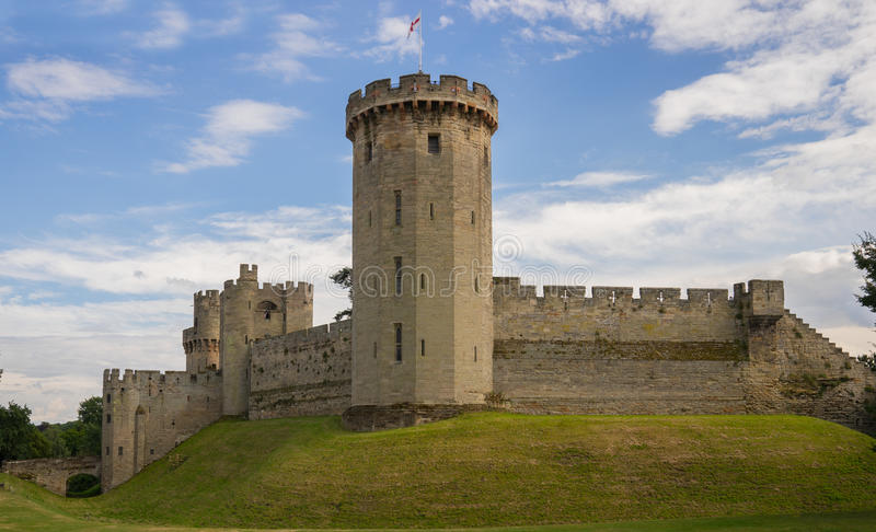 Warwick Castle, le Warwickshire, Angleterre images stock