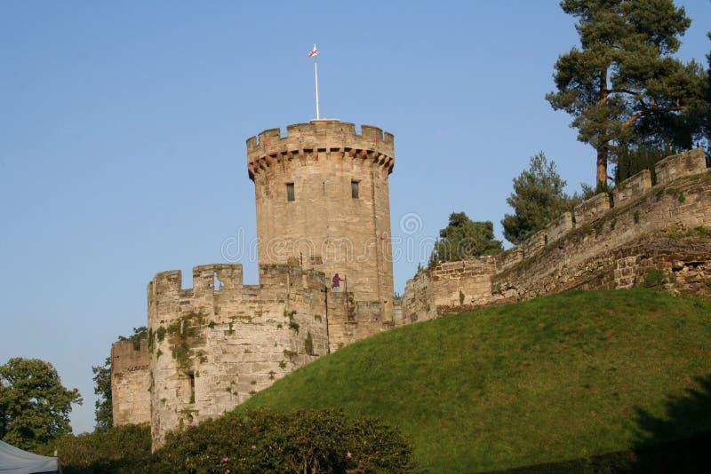 Warwick Castle Tower, Warwickshire, Inghilterra immagini stock libere da diritti
