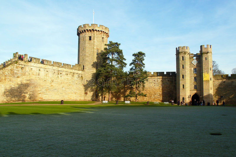 Warwick castle in the UK royalty free stock photos