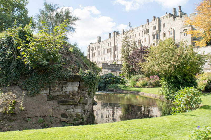 Warwick Castle Wall photographie stock